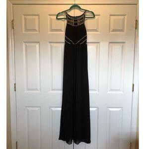 Black Beaded Evening Gown (Prom, Wedding, etc.)
